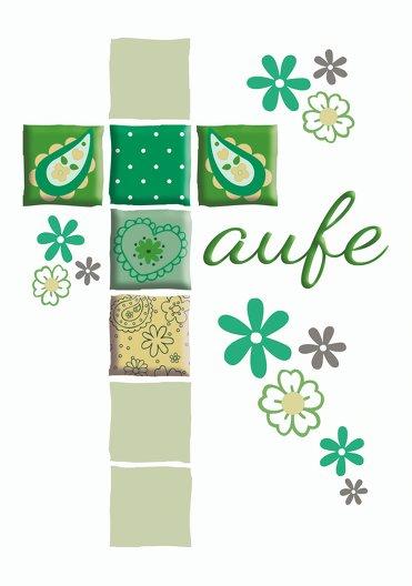 Ansicht 3 - Dankeskarte Florales Kreuz