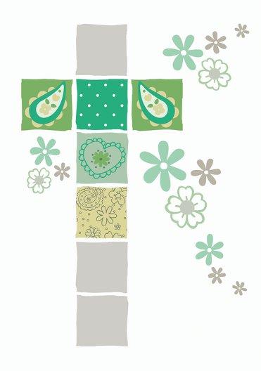 Ansicht 4 - Dankeskarte Florales Kreuz