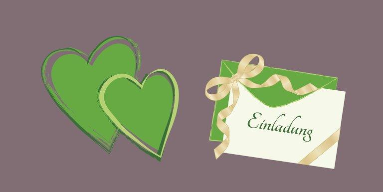 Ansicht 3 - Hochzeit Einladung Eheglück
