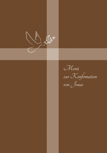 Ansicht 3 - Menükarte Konfirmation Glaubensbote