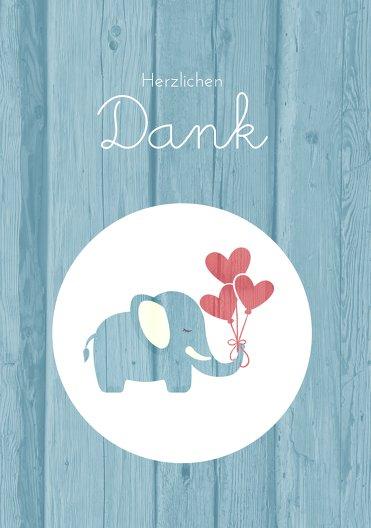 Ansicht 3 - Baby Dankeskarte Elefant