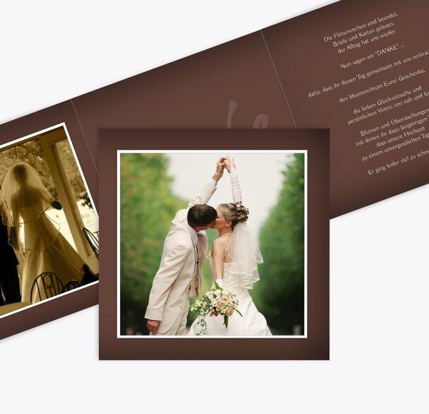 Hochzeit Dankeskarte ewige Verbindung