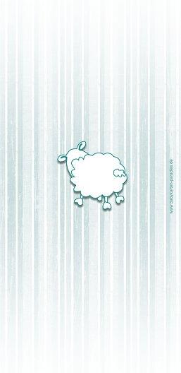 Ansicht 2 - Babykarte sheep