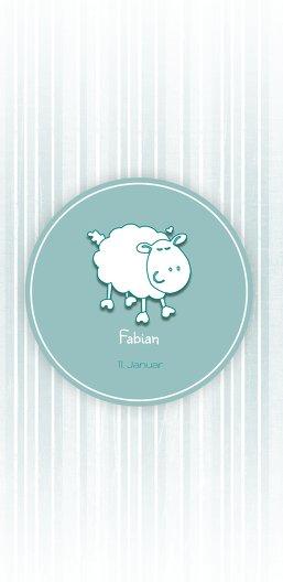 Ansicht 3 - Babykarte sheep