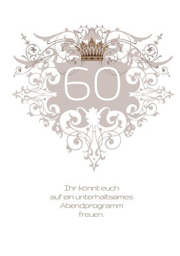 Ansicht 4 - Einladungskarte Krone 60