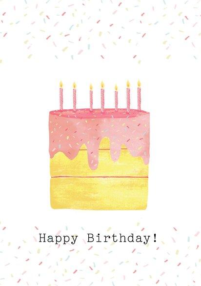 Ansicht 3 - Glückwunschkarte zum Geburtstag Birthday Cake