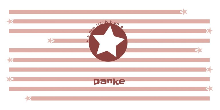 Ansicht 3 - Baby Dankeskarte a new star