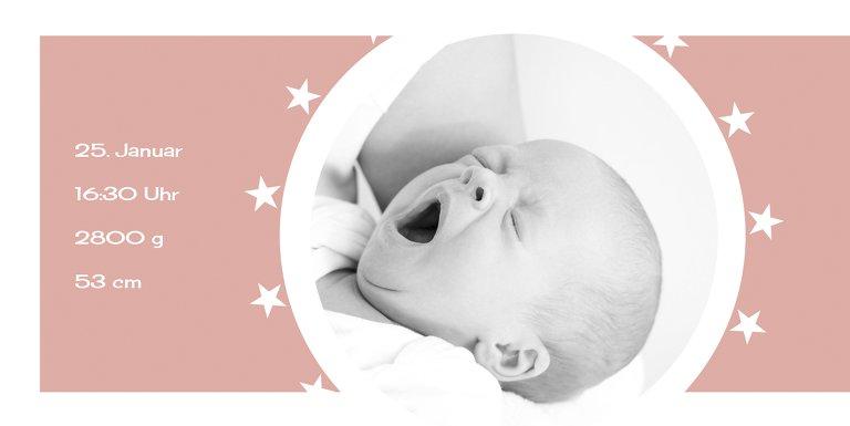 Ansicht 4 - Baby Dankeskarte a new star