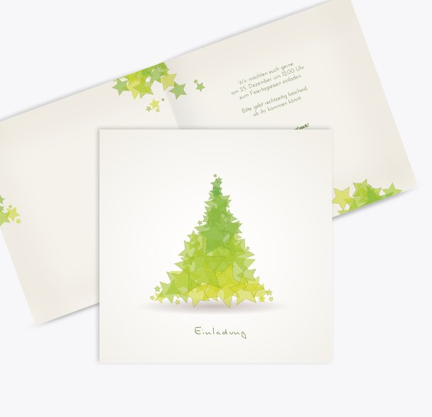Einladung Designerbaum