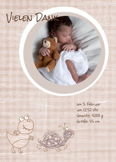 Ansicht 2 - Baby Dankeskarte Schildi