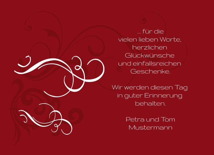 Ansicht 7 - Tauf Dankeskarte Schnörkel