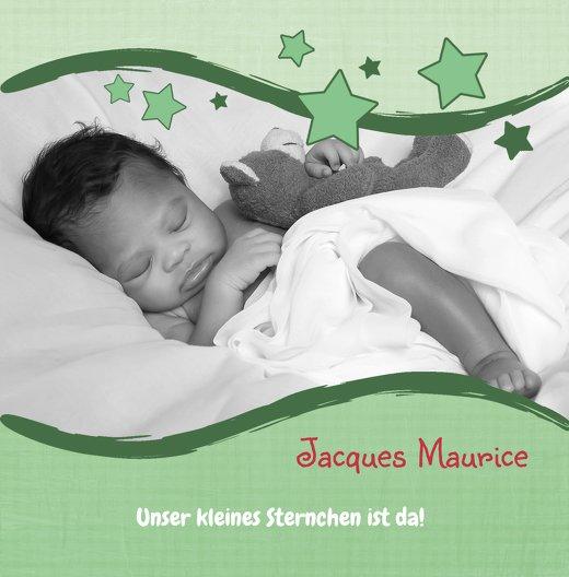 Ansicht 3 - Baby Geburtskarte Sternenwelle