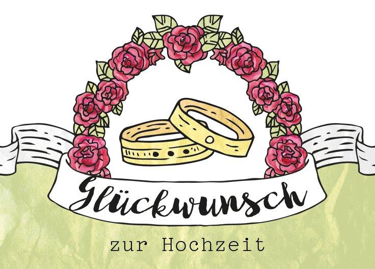 Ansicht 2 - Glückwunschkarte zur Hochzeit Ringe