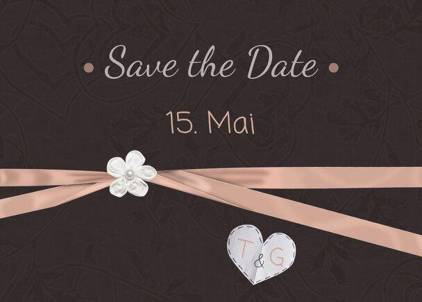 Ansicht 2 - Hochzeit Save-the-Date sanfte Blüte