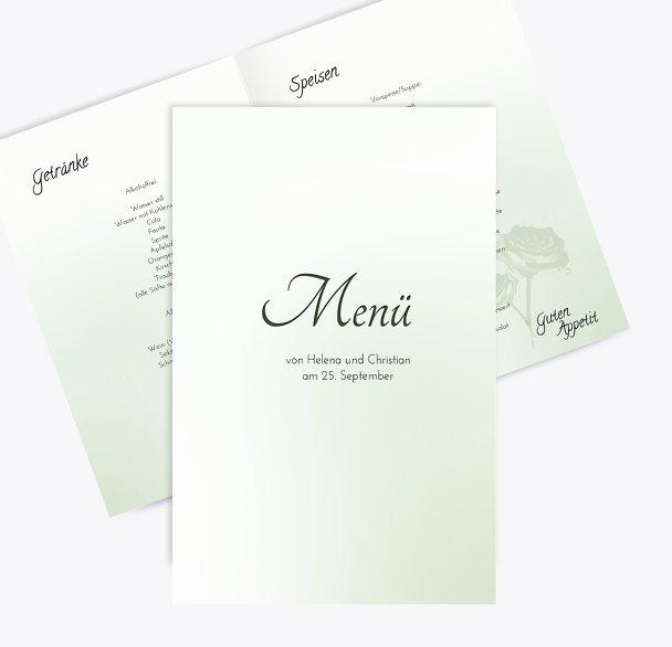 Hochzeit Menükarte 3 Vermählung
