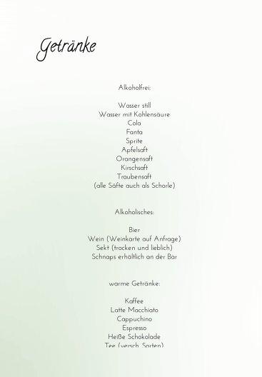 Ansicht 4 - Hochzeit Menükarte 3 Vermählung