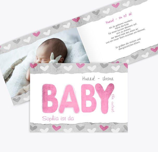 Geburtskarte Cute Baby