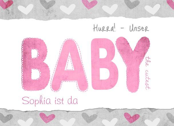 Ansicht 3 - Geburtskarte Cute Baby