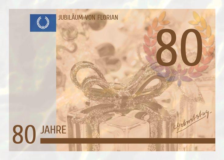 Ansicht 2 - Einladungskarte Geldschein 80