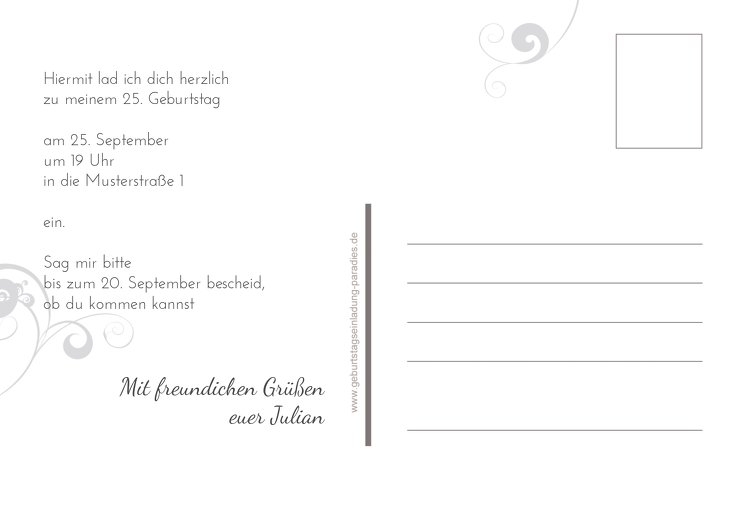 Ansicht 3 - Einladungskarte squiggle chubby