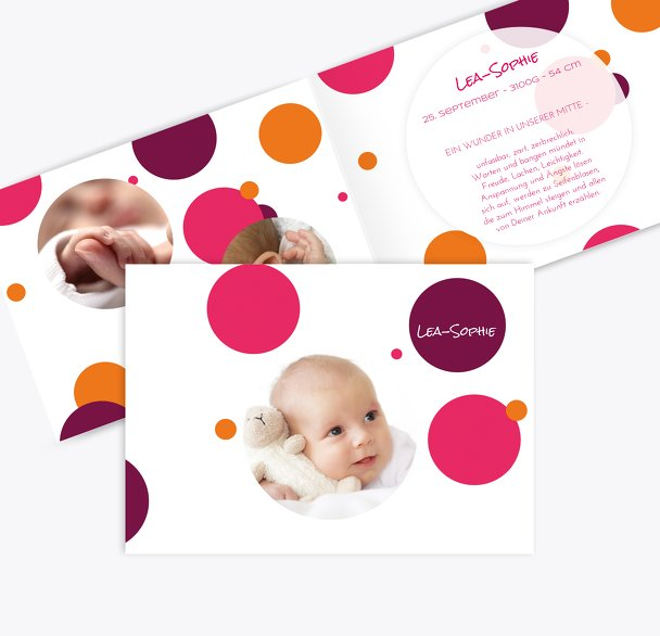Geburtskarte Kleckse