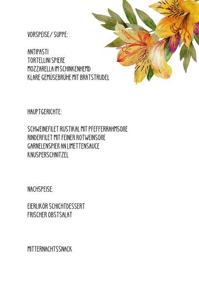 Ansicht 5 - Hochzeit Menükarte Blumendeko