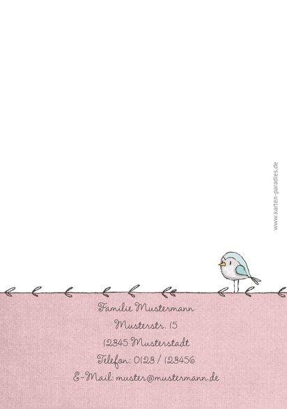 Ansicht 2 - Glückwunschkarten Einschulung Mäuschen und Vogel