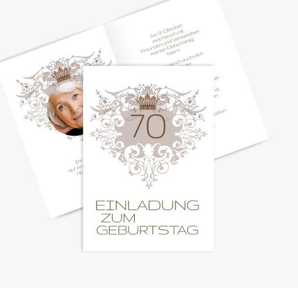 Einladungskarte Krone 70 Foto