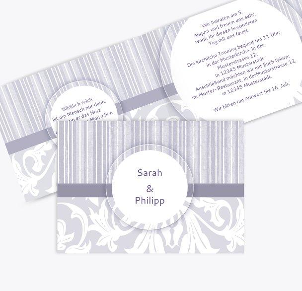 Hochzeit Einladung Streifenzauber
