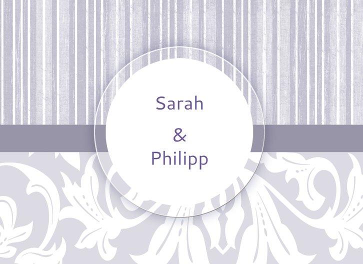 Ansicht 3 - Hochzeit Einladung Streifenzauber
