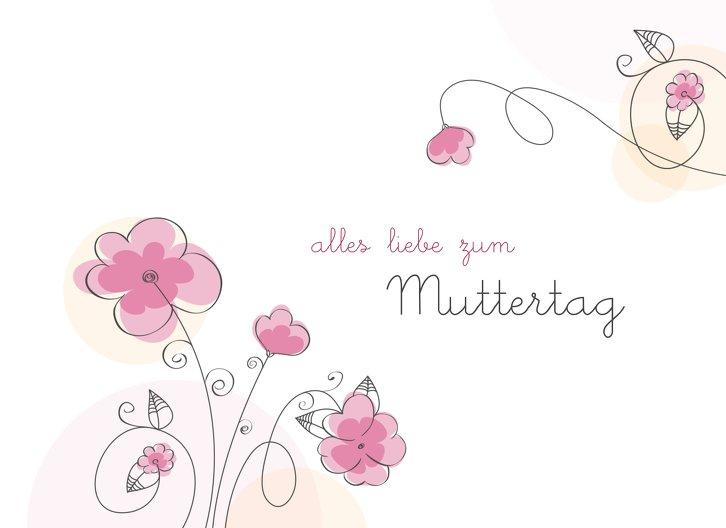 Ansicht 3 - Muttertagskarte Blumentraum
