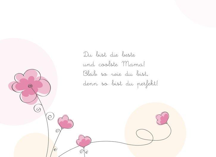 Ansicht 4 - Muttertagskarte Blumentraum