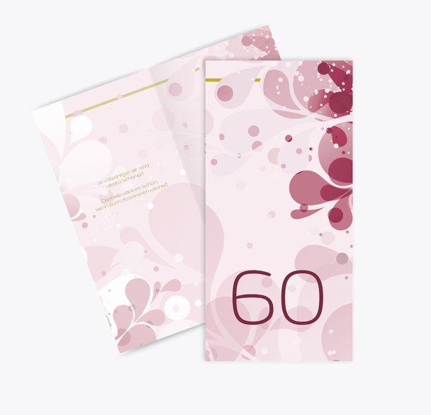 Einladungskarte Flora 60