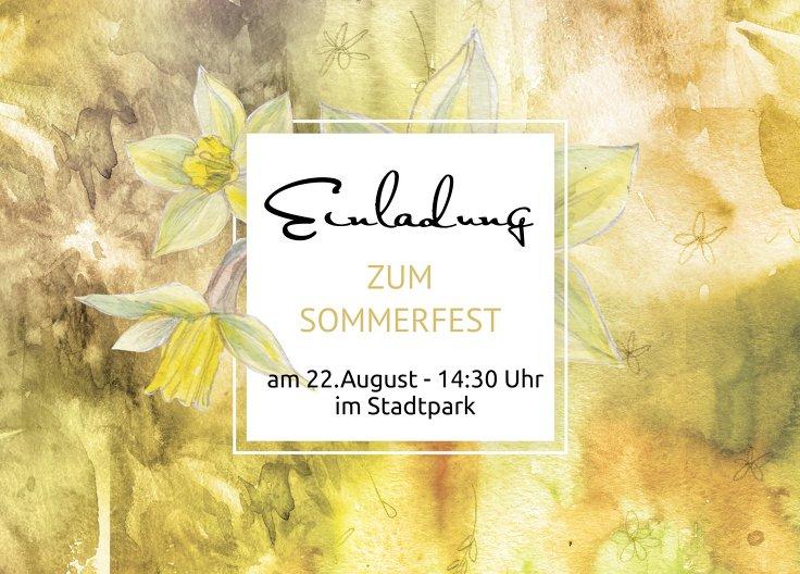 Ansicht 2 - Einladung Sommerfest Flowertimeflow