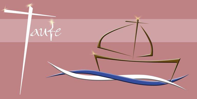 Ansicht 3 - Einladungskarte Schiffchen auf Wellen