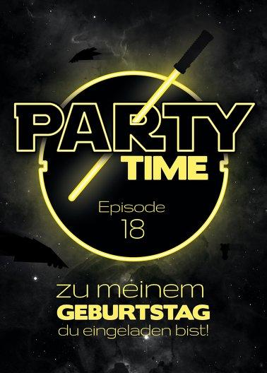 Ansicht 2 - Geburtstagseinladung Partytime 18