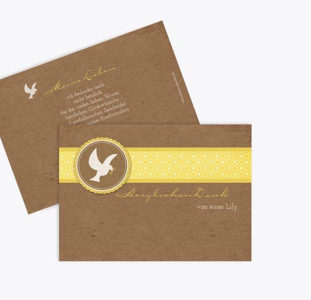 Konfirmation Dankeskarte Flügelschlag