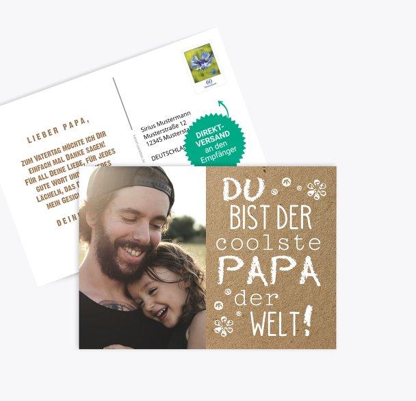 Vatertagskarte Schriftzug