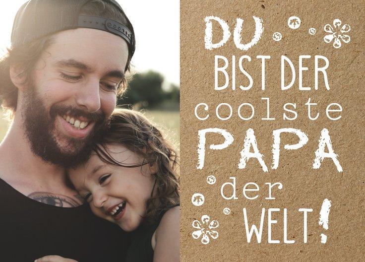 Ansicht 2 - Vatertagskarte Schriftzug