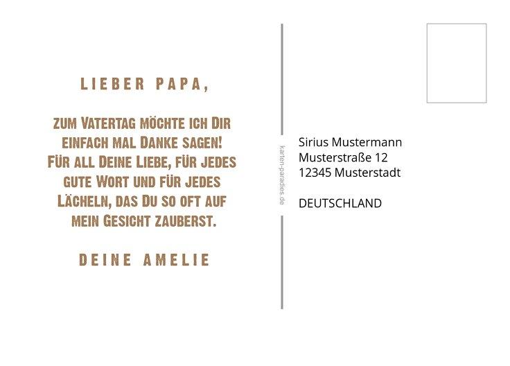 Ansicht 3 - Vatertagskarte Schriftzug