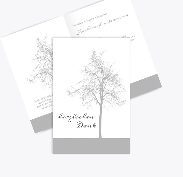 Dankeskarte Tree