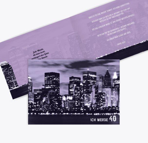 Einladung zum Geburtstag Skyline 40