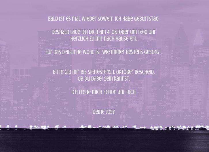Ansicht 5 - Einladung zum Geburtstag Skyline 40