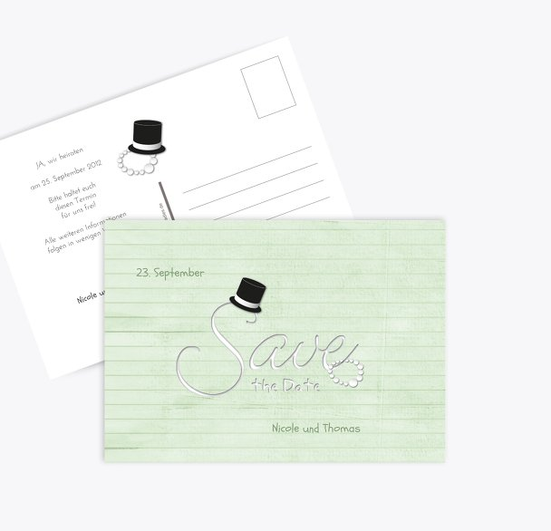 Save-the-Date Kette Zylinder