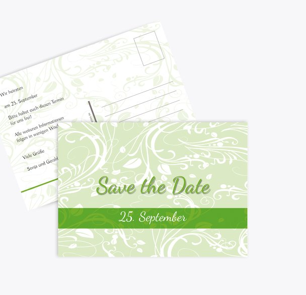 Save-the-Date Blättertraum