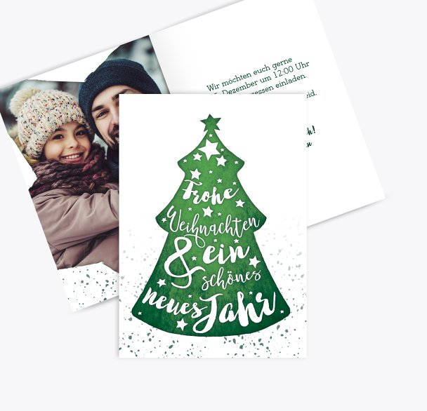 Foto Weihnachtseinladung Letterbaum