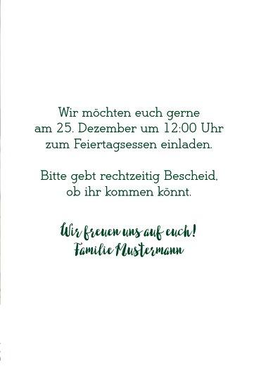 Ansicht 5 - Foto Weihnachtseinladung Letterbaum