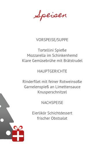 Ansicht 5 - Weihnachtsmenükarte Geschenkebaum