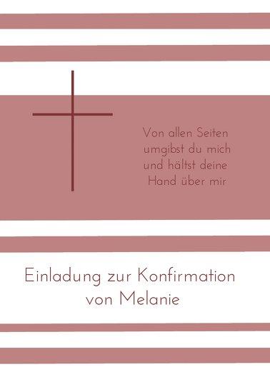 Ansicht 2 - Einladungskarte zur Konfirmation Kreuz