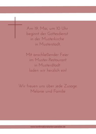 Ansicht 3 - Einladungskarte zur Konfirmation Kreuz